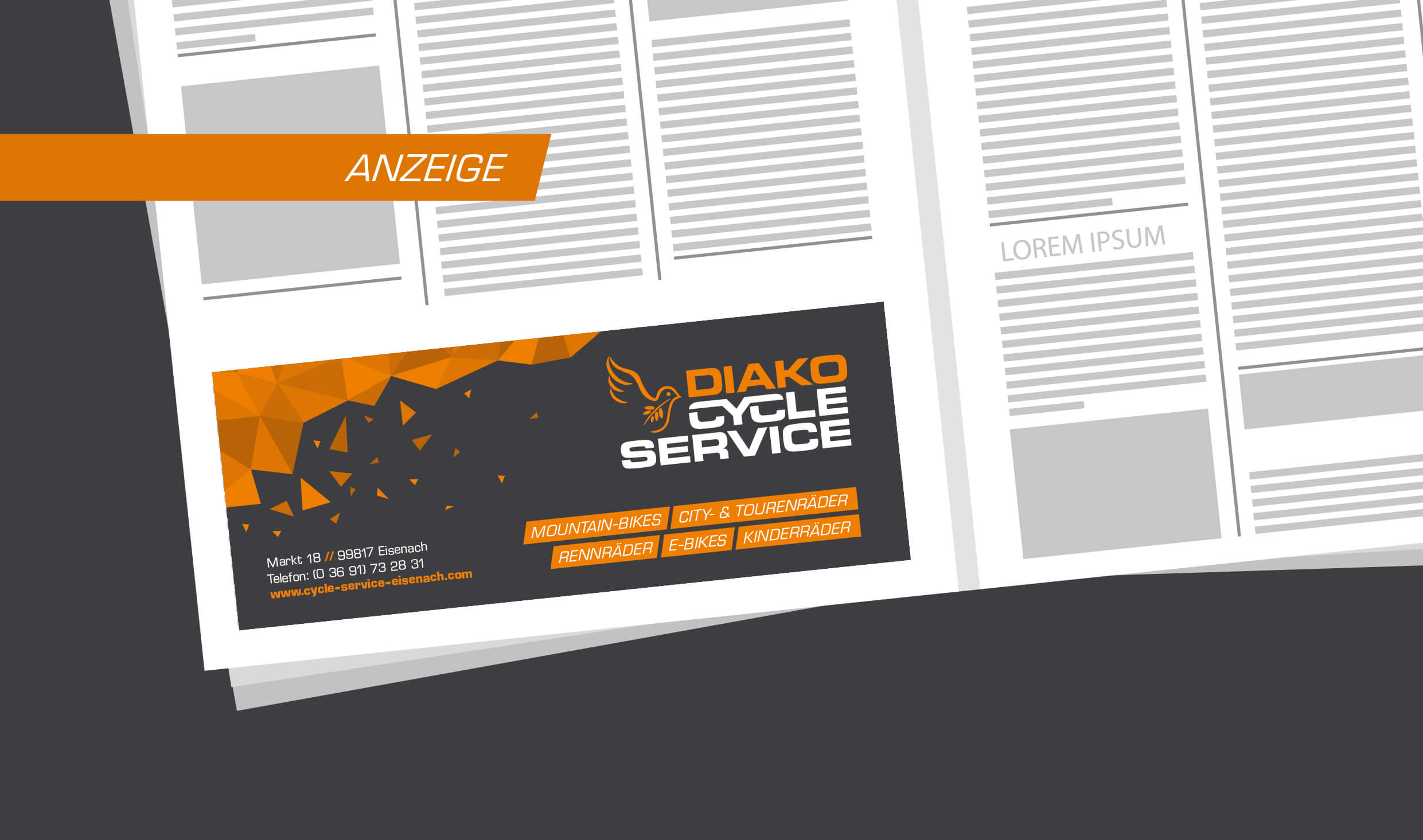Cycle Service – Anzeige